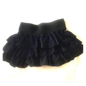 Body central pleated miniskirt